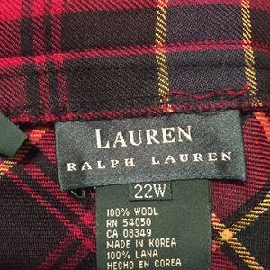 Ralph Lauren Plaid  skirt.